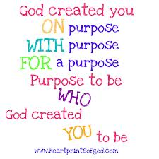 god and purpose statement