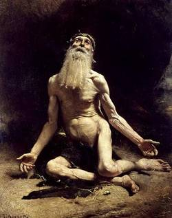 """Job"" by Leon Bonnat, 1880. Misery with supplication but without explanation (hebrewbible.wordpress.com)"