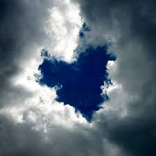 heart in clouds
