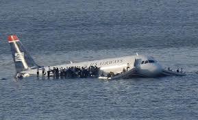 plane on hudson