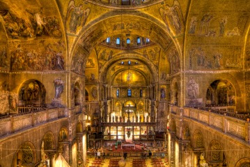 The sacred canopies of St. Mark's Basilica in Venice (arounddeglobe.com)